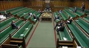 house of commons nearly empty