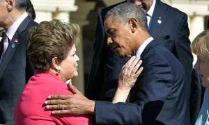 Brazilian president Dilma Rousseff and Barack Obama