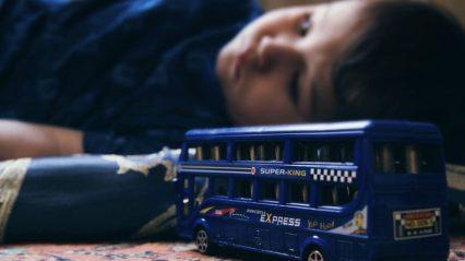 Kids View Baby Sad Child Toys Double-decker Boy